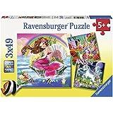 Ravensburger Mythical Creatures 3x49pc Puzzle,Children's Puzzles
