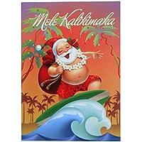 Christmas Card/クリスマスカード ハワイアン<ジョリーウェイブ> Xmas雑貨 はがき
