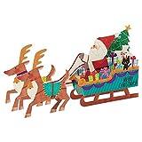 サンリオ クリスマスカード 洋風 立体 トナカイとサンタのそり  S6163
