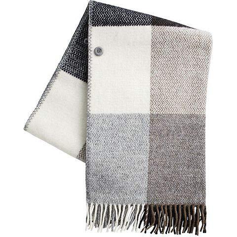 KLIPPAN クリッパン ウール ストール コレクション eco wool [ イネス/ライトグレー ]