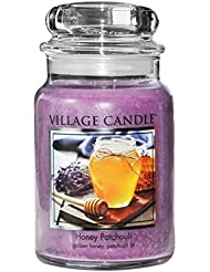 (Large (770ml)) - Village Candle Honey Patchouli 770ml Glass Jar Scented Candle, Large