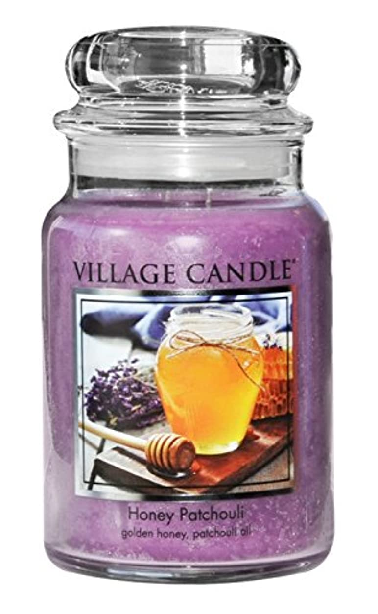 心のこもった滅びる折(Large (770ml)) - Village Candle Honey Patchouli 770ml Glass Jar Scented Candle, Large