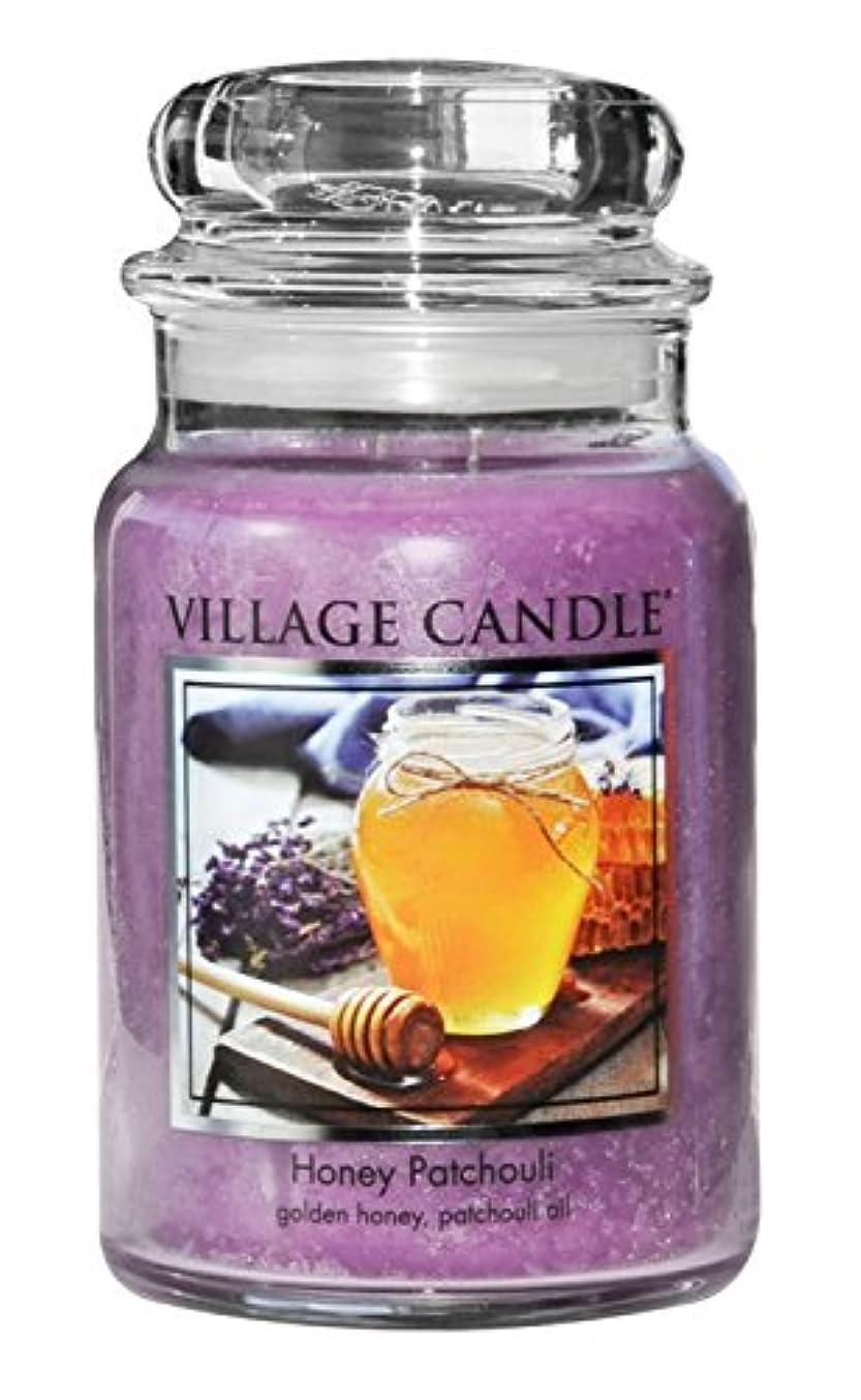 押し下げるバック織機(Large (770ml)) - Village Candle Honey Patchouli 770ml Glass Jar Scented Candle, Large