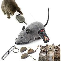 STAR-GAZER 猫おもちゃ 3種セット 室内 遊び おもちゃ 電動ネズミ リモコンネズミ またたび入りぬいぐるみ マタタビ入りぬいぐるみ セット LEDポインター 光るおもちゃ 運動不足