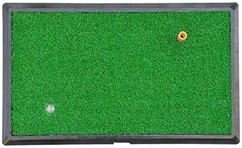 戸惑う創造堤防HSBAIS ゴルフマット ポータブル、自動復帰 パッドパッティング練習合成偽芝生屋内/屋外用,Green