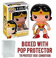 Funko POP 。DC Heroes–Wonder Woman Vinyl Figure (バンドルwith Popボックスプロテクターケース)