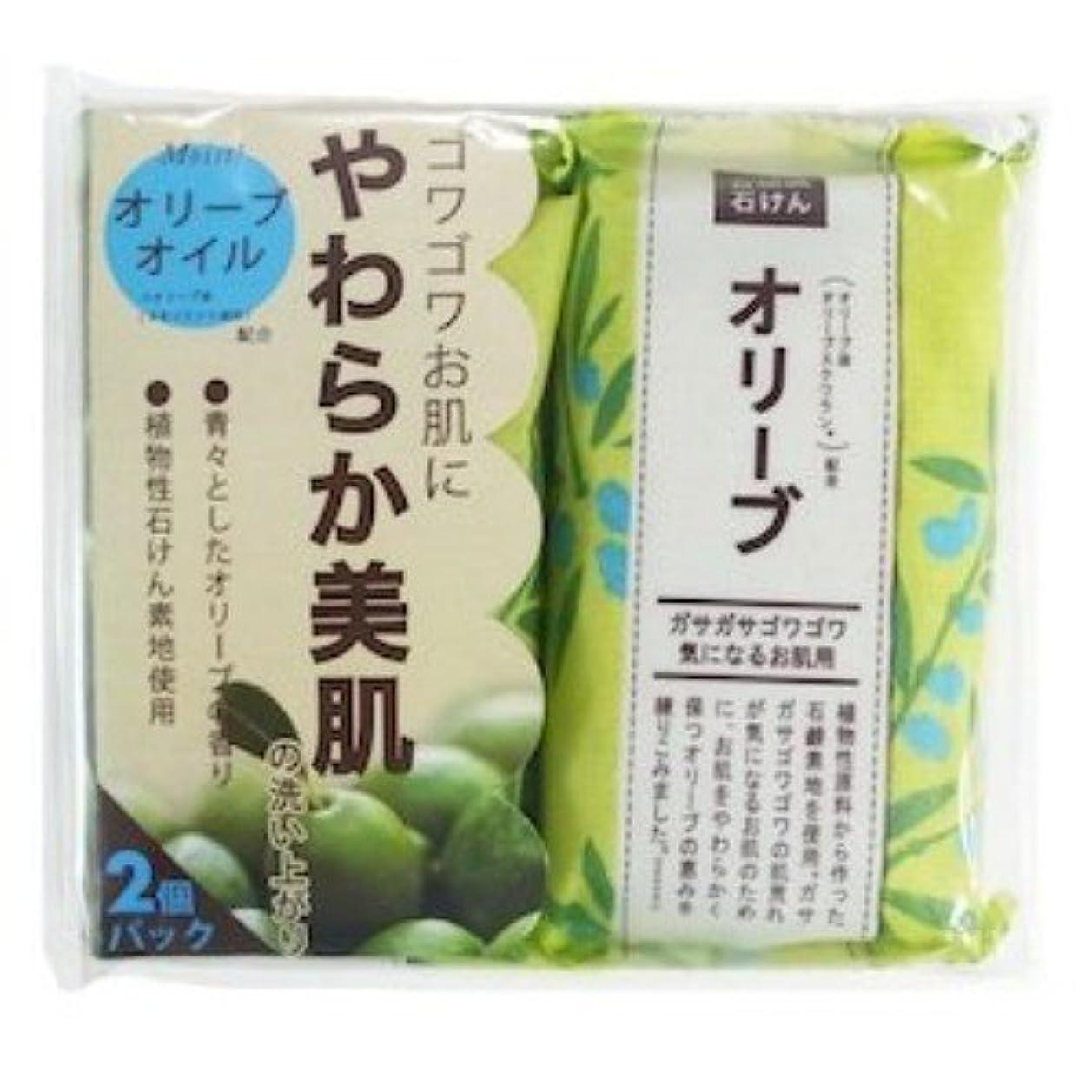 ストレスの多い実験抑圧するペリカン石鹸 自然派石けん オリーブ 100g×2個
