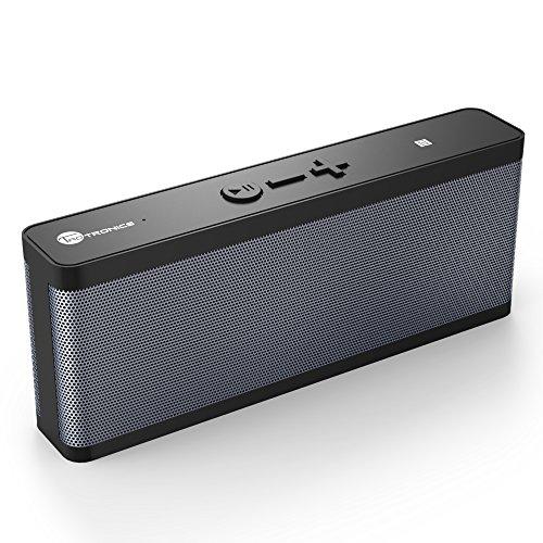 Bluetooth スピーカー 【国内正規品】 TaoTronics 防水Bluetooth 4.1 ワイヤレスステレオスピーカー 6W低音強化アウトドア/防水スピーカー 10時間連続再生NFC搭載 スマートホン/タブレット/など対応 TT-SK09 (ブラック)