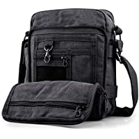 SPAHER Men Canvas Hiking Backpack Large Unisex Laptop Business School Satchel Holdall Weekend Travel Overnight Outdoor Shoulder Casual Bag