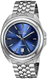 Bulova Accu Swiss Telc Automatic Stainless Steel Mens Watch Calendar Blue Dial 63B186