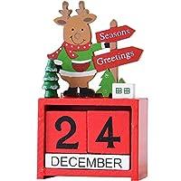 チャミ 卓上カレンダー 木製 万年カレンダー 手動 日めくり インテリア おしゃれ クリスマス装飾(クリスマス鹿)