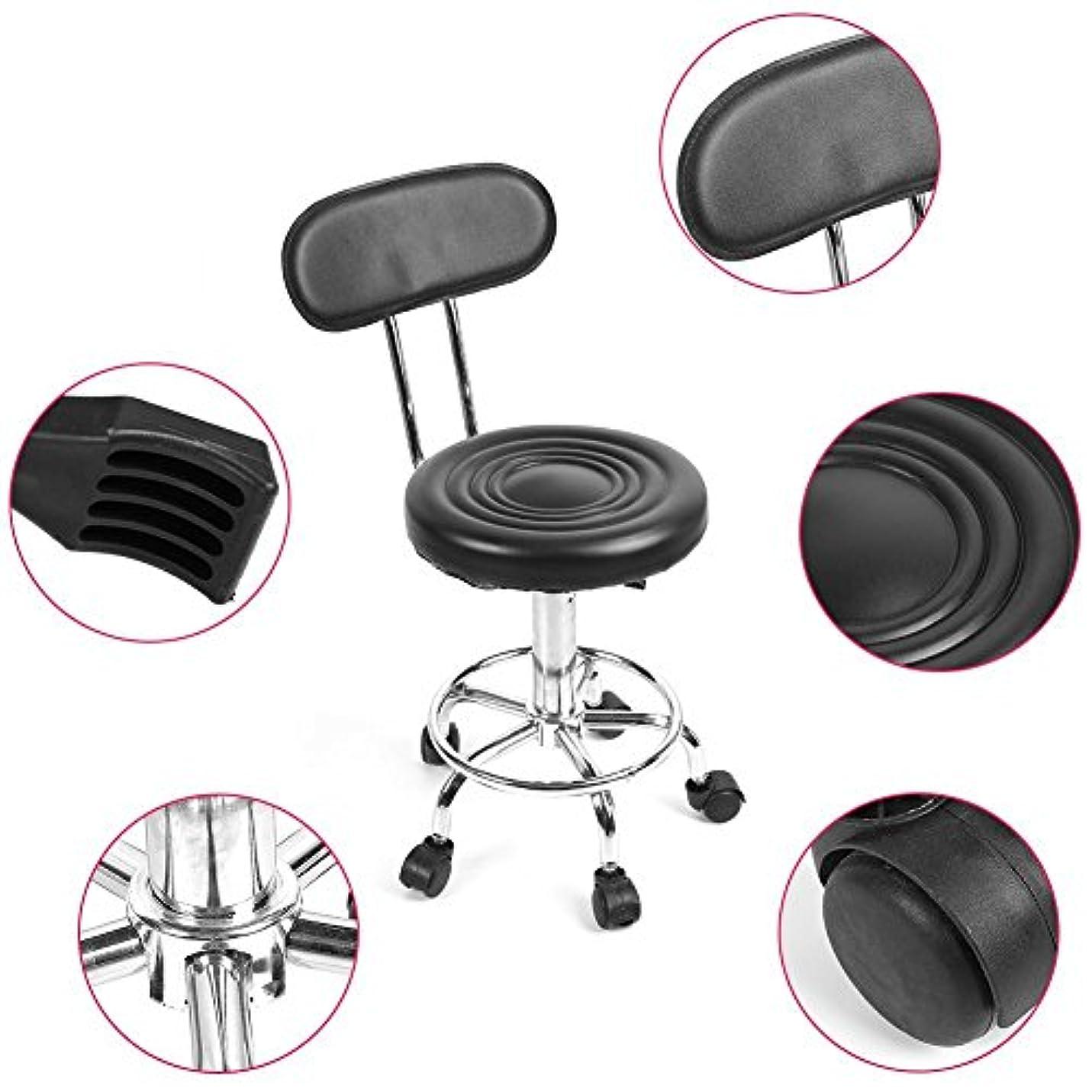 窓を洗う主張するポータル理髪椅子、フットレスト付き360度回転椅子、車輪付き背もたれ付き回転スツール、調節可能な理髪サロン、椅子、美容院、マッサージ