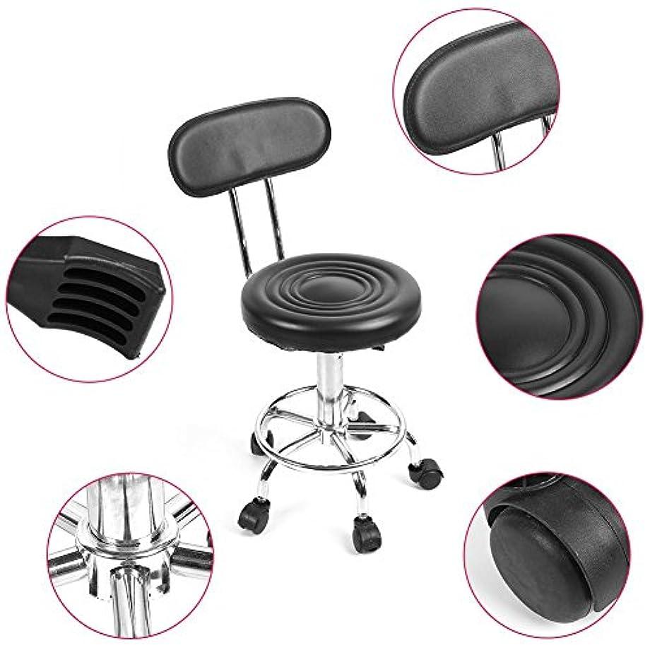 ピアニスト工業用マオリ理髪椅子、フットレスト付き360度回転椅子、車輪付き背もたれ付き回転スツール、調節可能な理髪サロン、椅子、美容院、マッサージ