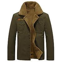 Sawadikaa Men's Winter Fleece Casual Cotton Jacket Coat Military Jacket Windbreaker Trench