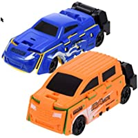 クイック変更Vehicles、複数の色イエロー、ブルー、オレンジ、グリーン、開くとツイストを変更する色とデザイン、パッケージの2つのand Colors Vary