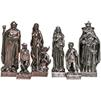 Design Toscano Mystical Legends Chess Pieces in Faux Silver and Copper [並行輸入品]