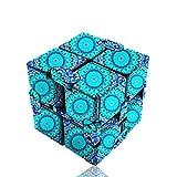 5様式 曼荼羅  立体パズル スピードキューブ (Luxury EDC Infinity Cube) おもちゃ ストレス解消  ADD & ADHD 集中力を向上し 不安を軽減し 知育おもちゃ (青色, 曼荼羅)