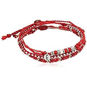 [ワカミ] wakami アンクレット 3 Strand Stone Anklets Red WA-BC17010