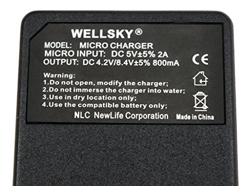 [WELLSKY] Panasonic パナソニック VW-VBK180-K / VW-VBK360-K / VW-VBT190-K / VW-VBT380-K 用 [ 超軽量 ] USB 急速互換充電器 VW-BC10-K [ 純正 互換バッテリー共に対応 ] HDC-TM70 / HDC-TM60 / HDC-HS60 / HDC-TM35 / HDC-TM90 / HDC-TM95 / HDC-TM85 / HDC-TM45 / HDC-TM25 / HC-V700M / HC-V600M / HC-V300M / HC-V100M / HC-V210M / HC-V230M / HC-V360M / HC-V480M / HC-V520M / HC-V550M / HC-V620M / HC-V720M / HC-V750M / HC-VX980M / HC-W570M / HC-W580M / HC-W850M / HC-W870M / HC-WX970M / HC-WX990M / HC-WXF990M / HC-WX995M / HC-VX985M