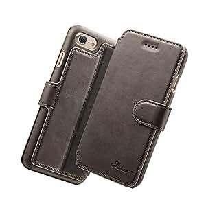 iPhone6s / iPhone6 ケース 手帳型 高級 PUレザー 耐衝撃 アイフォン 手帳型ケース シンプル カード収納×3 フリップ 人気 マグネット 全面保護 カバー スタンド機能 (iPhone6s/6, グレー)