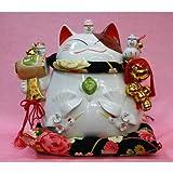 招き猫 置物・開運・縁起物・金運・風【(猫舎 招福だるまバンク(大)】 N1新築祝い・開店祝い・開業祝い