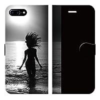 iPhone8Plus 7Plus 6sPlus 6Plus ベルトなし 手帳型 ケース カバー サーフガール YTPE 04MONO ブレインズ サーフ 美しい 美人 海 写真 フォト 人気 サーフィン 波乗り サマー 夏 西海岸 ハワイ ポップ スマートフォン グッズ