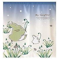 日本製 のれん「 となりのトトロのれん 」【IT】約85×90cm スノードロップとトトロ(#9842192)