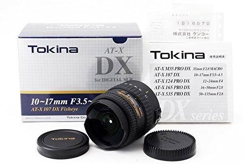 TOKINA トキナー AT-X 107 DX Fisheye ニコン用(レンズフード無)(10-17mm/F3.5-4.5)【輸出専用棚ズレ品】