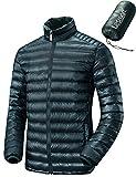 (レスマート)Lesmart メンズ ダウンジャケット 軽量 アウトドア 登山 防寒 防風 ウルトラライト コート 大きいサイズ 4XL グリーン