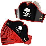 Adjustable Cardboard Pirate Hats - Party Hats For Halloween Pretend Play Party Favours - 24 Count