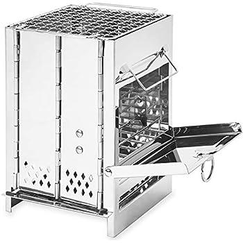 Moon Lence バーベキューコンロ 焚き火台 キャンプ用品 ミニ コンパクト 収納袋付き 折りたたみ ステンレス製 アウトドア ソロキャンプ D039