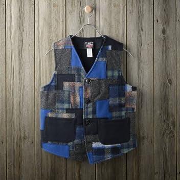 Patchwork Vest: Blue