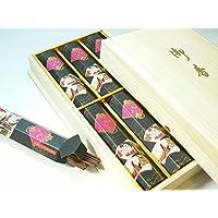 ◆進物線香?お線香◆「源氏之巻」 短寸6箱入り 桐箱(贈答用お線香)【ご進物】