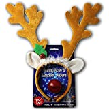 [SCS ダイレクト]SCS Direct Reindeer & Lightup Blinking Flashing Nose One Size Fits All This Christmas ANTLERS [並行輸入品]