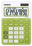カシオ カラフル電卓 ミニジャストタイプ 10桁 MW-C11A-GN-N シトラスグリーン