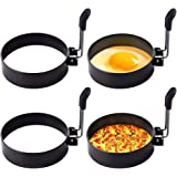 Stainless Steel Egg Ring,4 Pack Round Breakfast Household Mold Tool Cooking,Round Egg Cooker Rings For Frying Shaping Cooking