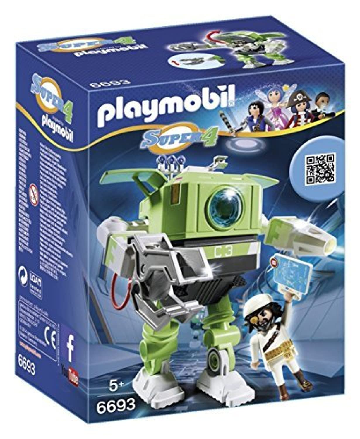 Playmobil 6693 Super 4 Technopolis Cleano by Playmobil UK Limited [並行輸入品]