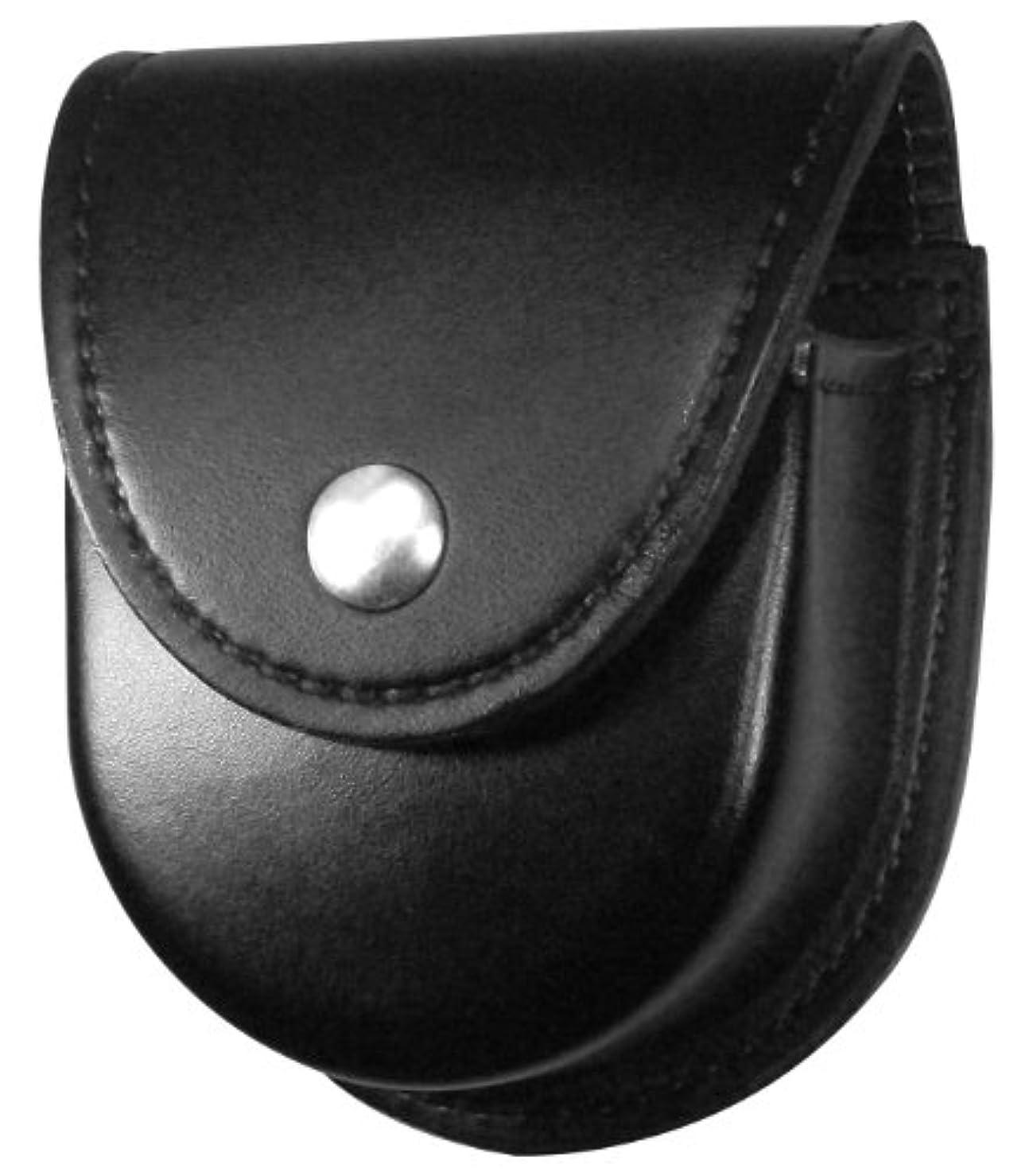 資源背が高い散文Gould & Goodrich K596Br ダブル手錠ケース ベルトに装着 最大2-1/4インチ (ブラック)