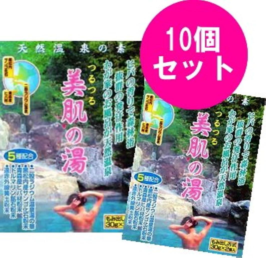 アジア密輸原始的なつるつる 美肌の湯 1袋(30g×2個)×10袋セット