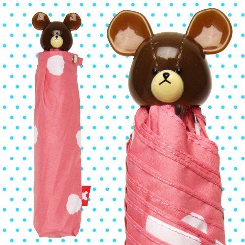 折りたたみ傘 【かさ】 ピンク 水玉 くまのがっこう