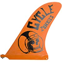 Captain Fin Co. Cycle Zombies Crash Helmet 10 Surfboard Fin, Orange by Captain Fin Co.