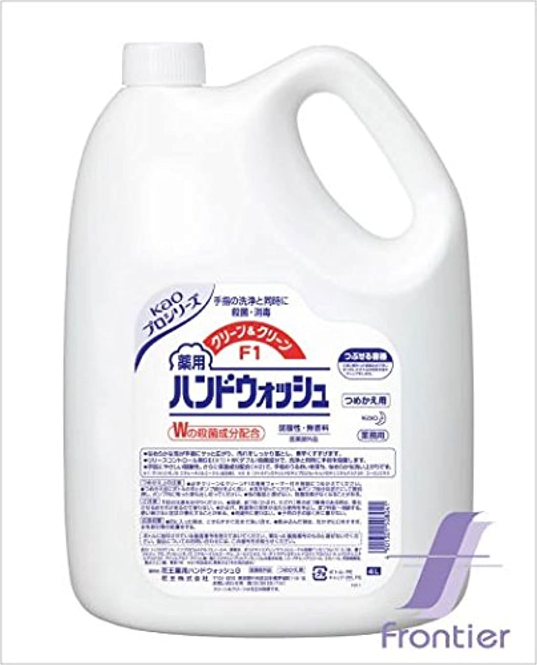 ボーダー鑑定ぎこちない花王 クリーン&クリーンF1 薬用ハンドウォッシュ 4リットル 3缶セット