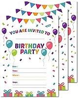 25Happy Birthday Personalizedパーティー招待状5x 7カードストックwith Envelopes