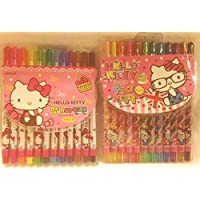 Hello Kitty 12 pc Twistableクレヨンand 12 pcマーカーセット