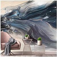 山笑の美 新しい中国の抽象的なダイナミックラインテクスチャ風景アートテレビ背景カスタム大壁画壁紙-200X150CM