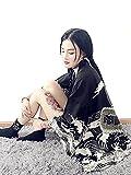(ジ-ライク) G-like レディース メンズ 羽織り カッコイイ 原宿風 龍 プリント ショート 着物 コート フリーサイズ (ブラック)