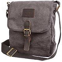 Canvas Messenger Bag TOPWOLF Small Crossbody Bag Casual Travel Working Tools Bag Shoulder Bag Easily Hold Phone Handset Anti Theft