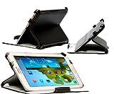 Navitech 黒 合皮 カバー スタンド式 Samsung Galaxy Note 8.0 GT-N5100 専用 ハンドストラップ付き