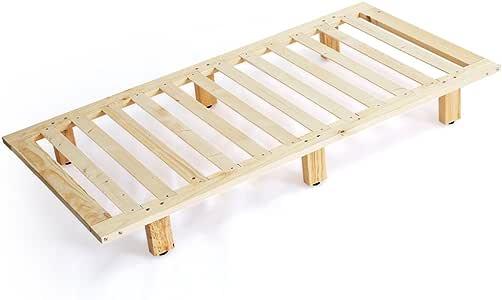 LOWYA すのこベッド ローベッド ベッド ベッドフレーム 天然木 シングル おしゃれ