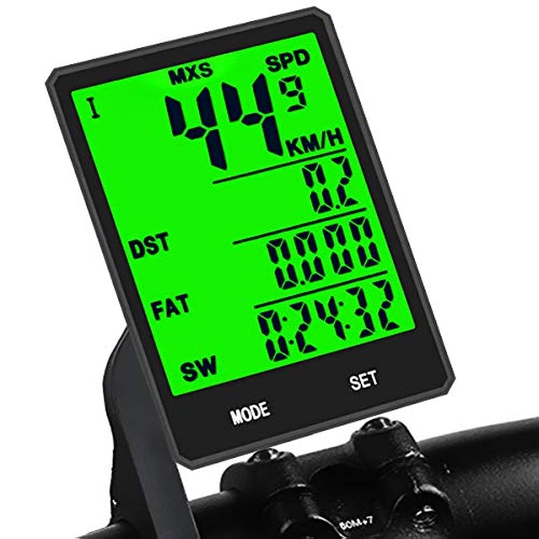 ペイントデイジーポルトガル語KASTEWILLスピードメーターワイヤレス多機能大型LEDバックライトディスプレイサイクルコンピューター防水バイク走行距離計スピードメーター
